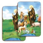 "Sant' Antonio Abate 3D Bi-Dimensional Cards cm.5.5x8.2- 2 1/8""x 3 1/4"""