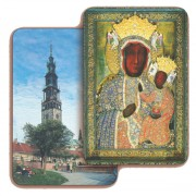 "Czestochowa 3D Bi-Dimensional Cards cm.5.5x8.2- 2 1/8""x 3 1/4"""