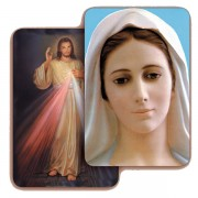 "Divine Mercy/ Medjugorje 3D Bi-Dimensional Cards cm.5.5x8.2- 2 1/8""x 3 1/4"""