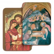 "Holy Family/ Nativity 3D Bi-Dimensional Cards cm.5.5x8.2- 2 1/8""x 3 1/4"""