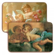 "Guardian Angel 3D Bi-Dimensional Cards cm.5.5x8.2- 2 1/8""x 3 1/4"""