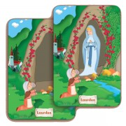 "Lourdes 3D Bi-Dimensional Cards cm.5.5x8.2- 2 1/8""x 3 1/4"""