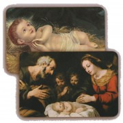 "Nativity 3D Bi-Dimensional Cards cm.5.5x8.2- 2 1/8""x 3 1/4"""