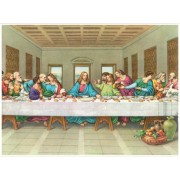 "Last Supper High Quality Print cm.30x40- 12""x16"""