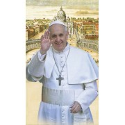 "Pope Francis Holy Cards Blank cm.7x12- 2 3/4""x 4 3/4"""