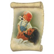 "Jesus Football Fridge Magnet cm.5x8- 2""x 3 1/4"""