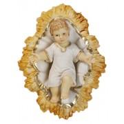 """Baby Jesus with Crib Pvc Statue cm.8 - 3"""""""