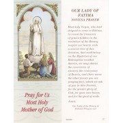 "Our Lady Fatima Bookmark cm.6x15.5- 2 1/2""x 6 1/8"""