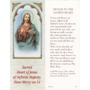 "Sacred Heart of Jesus Bookmark cm.6x15.5- 2 1/2""x 6 1/8"""