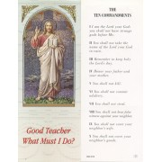 "Ten Commandments Bookmark cm.6x15.5- 2 1/2""x 6 1/8"""