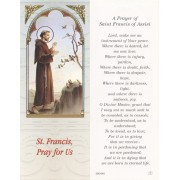 "Prayer of St.Francis of Assisi Bookmark cm.6x15.5- 2 1/2""x 6 1/8"""