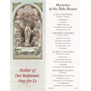 "Mysteries of the Holy Rosary Bookmark cm.6x15.5- 2 1/2""x 6 1/8"""