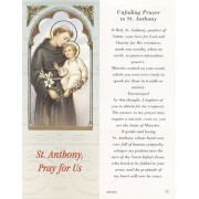 "Unfailing Prayer to St.Anthony Bookmark cm.6x15.5- 2 1/2""x 6 1/8"""