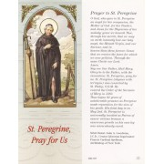 "Prayer to St.Peregrine Bookmark cm.6x15.5- 2 1/2""x 6 1/8"""
