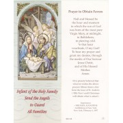 "Holy Family Prayer to Obtain Favours Bookmark cm.6x15.5- 2 1/2""x 6 1/8"""