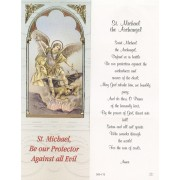 "St.Michael the Archangel Bookmark cm.6x15.5- 2 1/2""x 6 1/8"""
