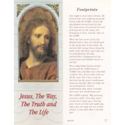 "Jesus/ Footprints Bookmark cm.6x15.5- 2 1/2""x 6 1/8"""