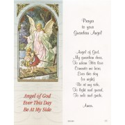 "Prayer to Your Guardian Angel Bookmark cm.6x15.5- 2 1/2""x 6 1/8"""