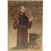 """St.Francis Plaque cm.15.5x10.5 - 6""""x4"""""""