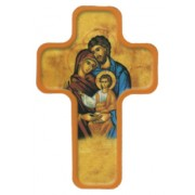 "Icon Holy Family Cross Fridge Magnet cm.4x6 - 2 1/2""x 4 1/4"""