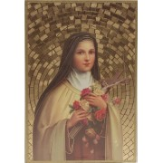 "St.Therese Plaque cm.15.5x10.5 - 6""x4"""