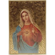 "Immaculate Heart of Mary Plaque cm.15.5x10.5 - 6""x4"""