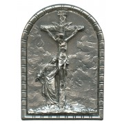 "Crucifixion Pewter Picture Free Standing cm.5.5x4 - 2 1/4""x 1 5/8"""