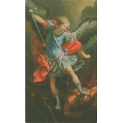 "Holy card of St.Michael cm.7x12- 2 3/4""x 4 3/4"""