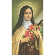 "Holy card of St.Therese cm.7x12- 2 3/4""x 4 3/4"""