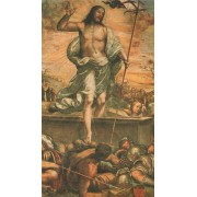 "Holy card of the risen Christ cm.7x12- 2 3/4""x 4 3/4"""