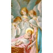 """Tarjeta de Santa de la Natividad cm.7x12- 2 3/4 """"x 4 3/4"""""""