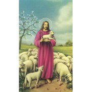 "Holy card of Jesus the Shepherd cm.7x12- 2 3/4""x 4 3/4"""