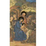 "Holy card of the Nativity with Gold Foil cm.7x12- 2 3/4""x 4 3/4"""