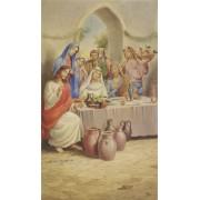 "Holy card of Wedding at Canna cm.7x12- 2 3/4""x 4 3/4"""