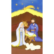 "Holy card of animated Nativity cm.7x12- 2 3/4""x 4 3/4"""