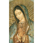 """Holy card of Our Lady of Guadalupe cm.7x12- 2 3/4""""x 4 3/4"""""""