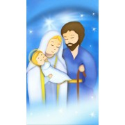 "Holy card of the Holy Family animated cm.7x12- 2 3/4""x 4 3/4"""