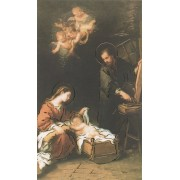 """Holy card of Nativity with Gold Foil cm.7x12- 2 3/4""""x 4 3/4"""""""
