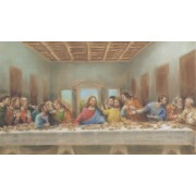 """Holy card of the Last Supper cm.7x12- 2 3/4""""x 4 3/4"""""""