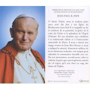 "Holy card of Pope John Paul II with Prayer in French cm.7x12- 2 3/4""x 4 3/4"""