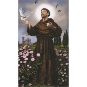 "Holy card of St.Francis cm.7x12- 2 3/4""x 4 3/4"""