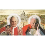 "Holy card of St.John Paul II and St.John Paul XXIII cm.7x12- 2 3/4""x 4 3/4"""