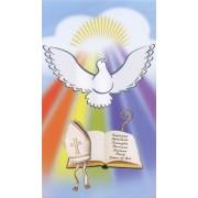 "Holy card of the Holy Spirit cm.7x12- 2 3/4""x 4 3/4"""