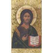 """Holy card of the Icon Pantocrator cm.7x12- 2 3/4""""x 4 3/4"""""""