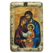 "Icon Holy Family Scroll Fridge Magnet cm.4x6 - 2 1/2""x 4 1/4"""