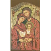 "Holy card of Icon Holy Family cm.7x12- 2 3/4""x 4 3/4"""