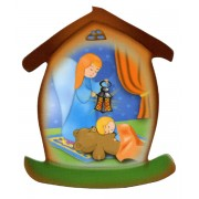 "Guardian Angel House Shaped Magnet cm.5.5x6.6 - 2 1/4""x 2 5/8"""