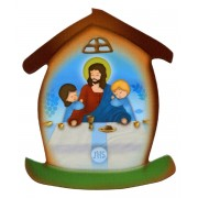 "Last Supper House Shaped Magnet cm.5.5x6.6 - 2 1/4""x 2 5/8"""