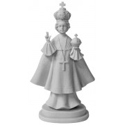 """Infant of Prague Composite Marble Statue in White cm.28.5 - 11 1/4"""""""