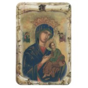 "Perpetual Help Scroll Fridge Magnet cm.4x6 - 4 1/4""x 2 1/2"""